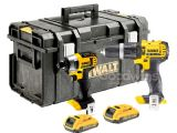 Dewalt 18V 2 x 2.0Ah XR DCD785 Combi Drill & DCF885 Impact Driver Kit in D300 Kitbox - NO CHARGER